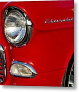 1955 Chevrolet 210 Headlight Metal Print by Jill Reger