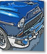 1955 Chevy Bel Air Front Study Metal Print by Samuel Sheats