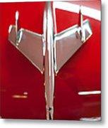 1955 Chevy Belair Hood Ornament Metal Print by Sebastian Musial