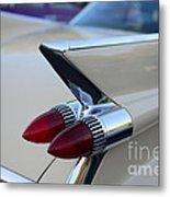 1958 Cadillac Tail Lights Metal Print by Paul Ward