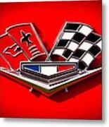 1963 Chevy Corvette Emblem Metal Print by David Patterson