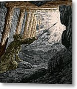 19th-century Coal Mining Metal Print by Sheila Terry