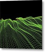 Abstract Line Pattern Metal Print by Pasieka