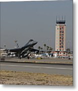 An F-16 Fighting Falcon Takes Metal Print by HIGH-G Productions