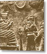 Babylonian Boundary Stone Metal Print by Science Source