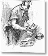 Bank Panic, 1873 Metal Print by Granger