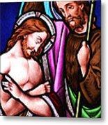 Baptism Metal Print by Munir Alawi