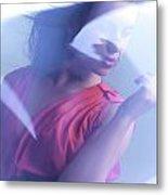 Beauty Photo Of A Woman In Shining Blue Settings Metal Print by Oleksiy Maksymenko