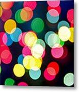 Blurred Christmas Lights Metal Print by Elena Elisseeva