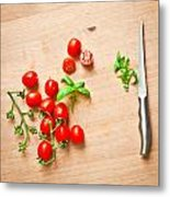 Cherry Tomatoes Metal Print by Tom Gowanlock
