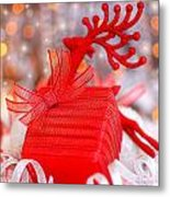 Christmas Gift Metal Print by Anna Omelchenko