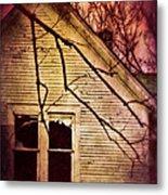 Creepy Abandoned House Metal Print by Jill Battaglia