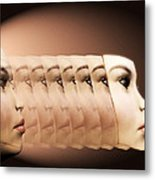 Face Transplant Metal Print by Victor Habbick Visions