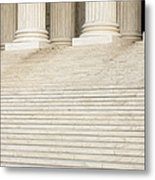 Front Steps And Columns Of The Supreme Court Metal Print by Roberto Westbrook