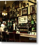 Historic Niles District In California Near Fremont . Bronco Billys Pizza Palace . 7d10707 Metal Print by Wingsdomain Art and Photography