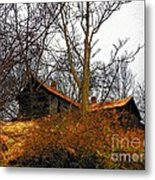 House On The Hill Metal Print by Joyce Kimble Smith