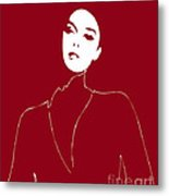 Illustration Of A Woman In Fashion Metal Print by Frank Tschakert