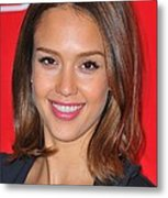 Jessica Alba At A Public Appearance Metal Print by Everett