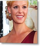 Katherine Heigl At Arrivals For Life As Metal Print by Everett