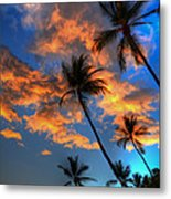 Maui Sunset Metal Print by Kelly Wade