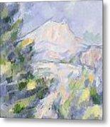 Mont Sainte-victoire Metal Print by Paul Cezanne
