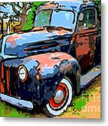 Nostalgic Rusty Old Truck . 7d10270 Metal Print by Wingsdomain Art and Photography