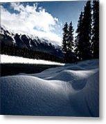 Open Water In Winter Metal Print by Mark Duffy
