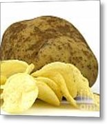 Potato Chips Metal Print by Blink Images