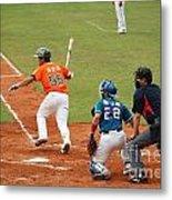 Professional Baseball Game In Taiwan Metal Print by Yali Shi