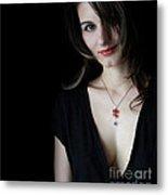 Red And Black Metal Print by Eena Bo