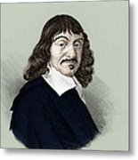 Rene Descartes, French Polymath Metal Print by Science Source