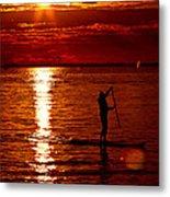 Sunset Silhouette Metal Print by Barbara  White