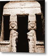 Temple Of Hathor Metal Print by Photo Researchers, Inc.