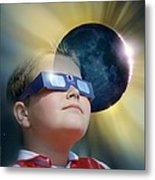 Watching Solar Eclipse Metal Print by Detlev Van Ravenswaay