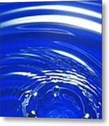 Water Drop Impact, High-speed Photograph Metal Print by Crown Copyrighthealth & Safety Laboratory