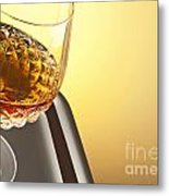 Whiskey In Stem Glass Metal Print by Blink Images