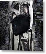Woman In Alley Metal Print by Joana Kruse