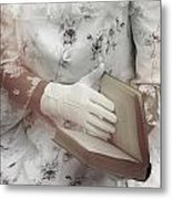 Woman With A Book Metal Print by Joana Kruse