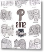 2012 Phightin' Phils Metal Print by Chris  DelVecchio