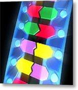 Dna Molecule Metal Print by Pasieka