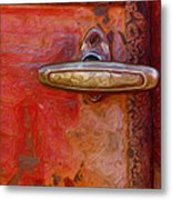 29 International Truck Handle Metal Print by Jack Zulli