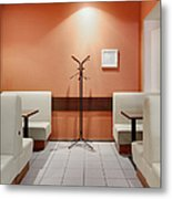 Cafe Dining Room Metal Print by Magomed Magomedagaev