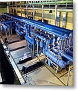Electricity Substation Metal Print by Ria Novosti
