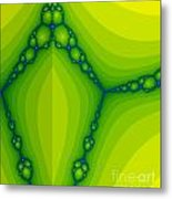 Green Fractal  Metal Print by Odon Czintos
