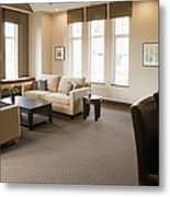 Living Room In An Upscale Home Metal Print by Shannon Fagan