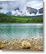 Mountain Lake In Jasper National Park Metal Print by Elena Elisseeva
