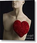 Red Heart Metal Print by Bernard Jaubert