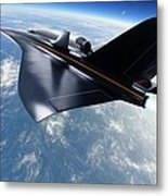 Saenger Horus Spaceplane, Artwork Metal Print by Detlev Van Ravenswaay