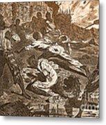 Siege Of Vicksburg, 1863 Metal Print by Photo Researchers