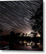 Star Trails Metal Print by Laurent Laveder